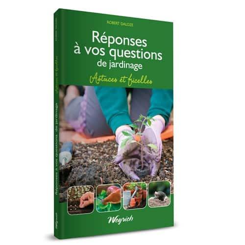 « Réponses à vos questions de jardinage. Astuces et ficelles » de Robert Daloze est disponible en librairies et sur notre e-shop au prix de 9€.