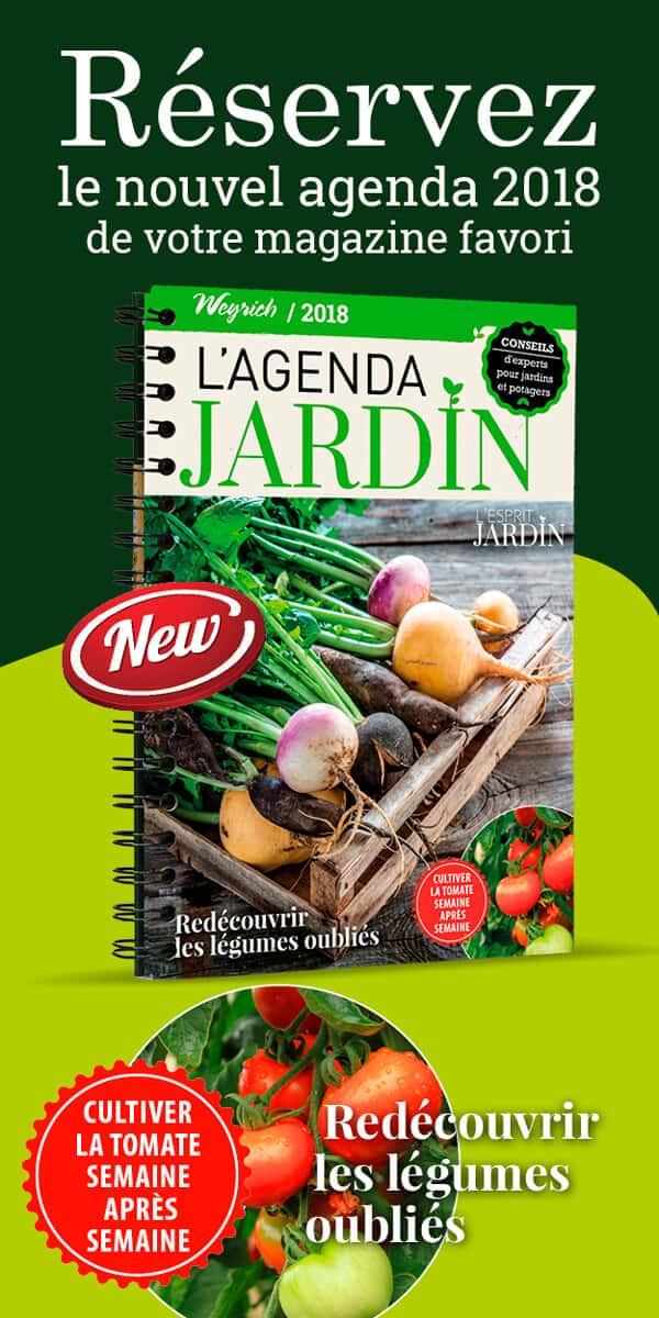 « Agenda jardin 2018 » est disponible en librairies et sur notre e-shop.
