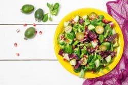Salade de chou rouge à la grenade