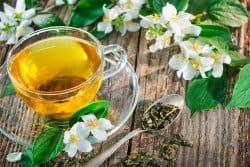 Thé vert au jasmin et roquefort