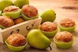 Muffin aux poires et aux noisettes