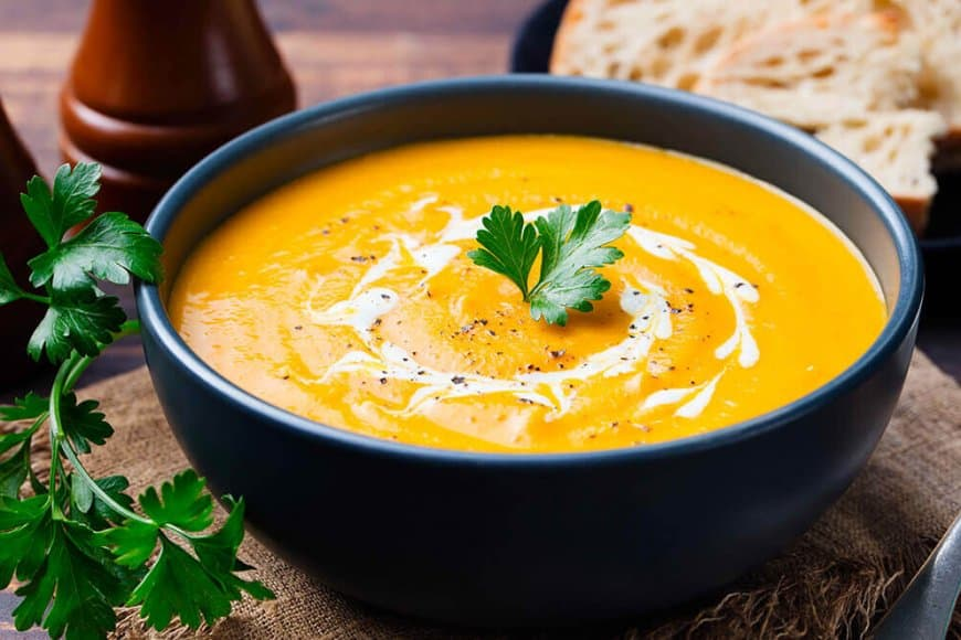 Potage courge – curry – coco