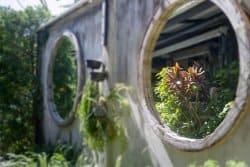 Un miroir au jardin ?!