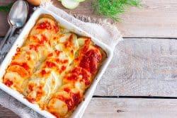Courgettes gourmandes gratinées à la mozzarella